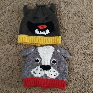 1c882221b70 EUC Set of 2 Baby Boy Winter Hats